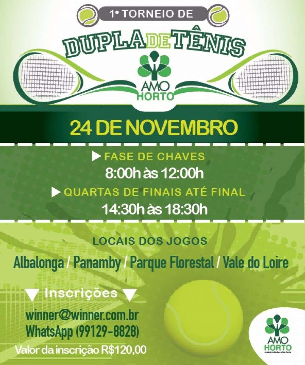 7dffc05bf1d7 Condomínios do Horto realizarão torneio de tênis