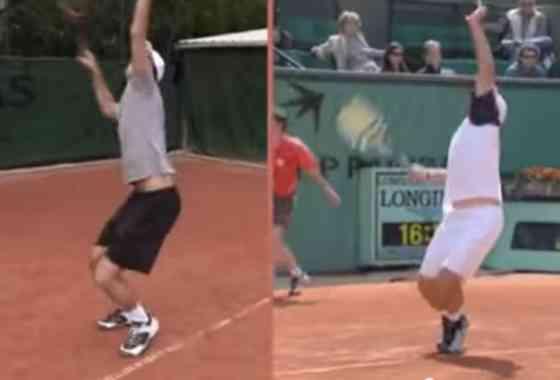 Imitações de tenistas em Roland Garros
